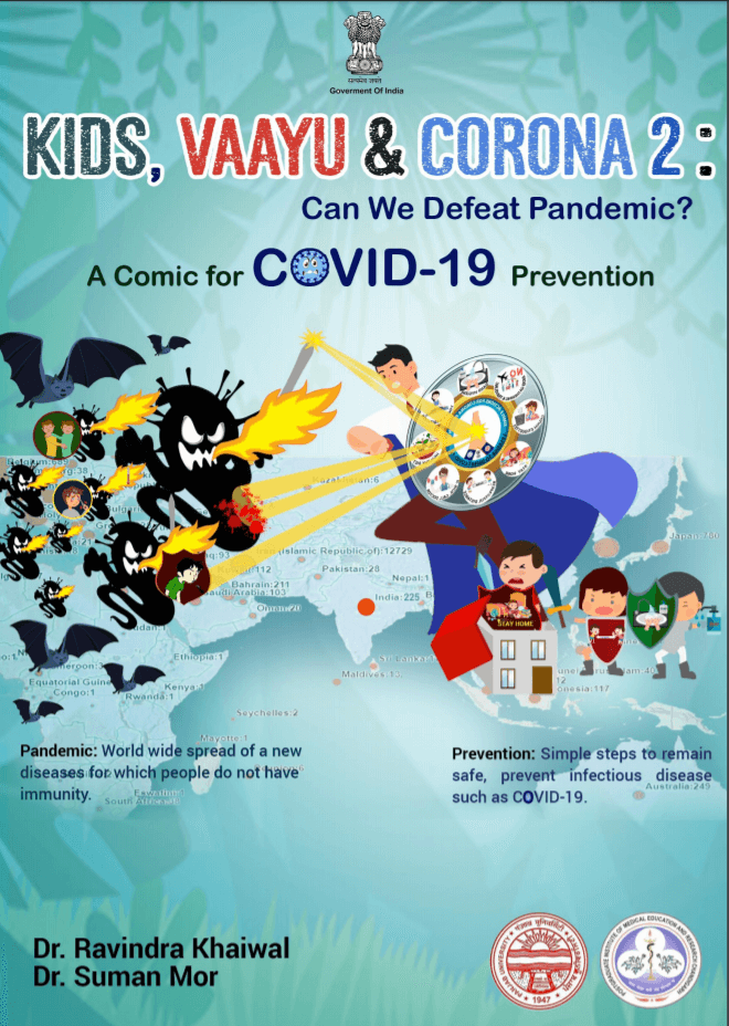 KIDS, VAAYU & CORONA : Comic book for children to provide correct information about Coronavirus